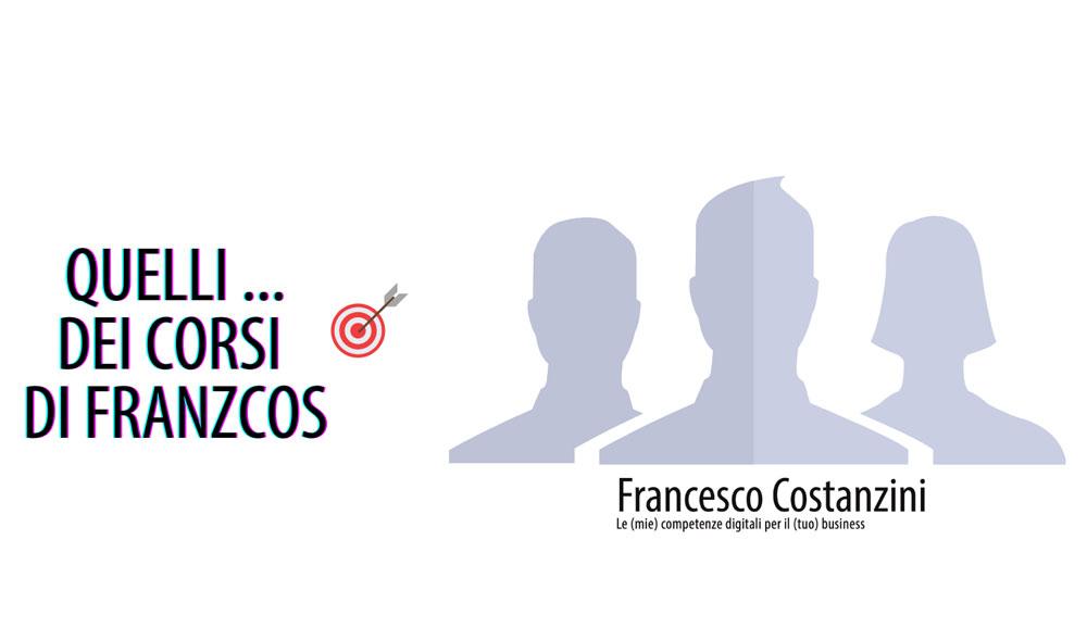 """Copertina del gruppo Facebook """"Quelli del corso di Franzcos"""""""