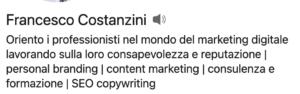 headline profilo LinkedIn
